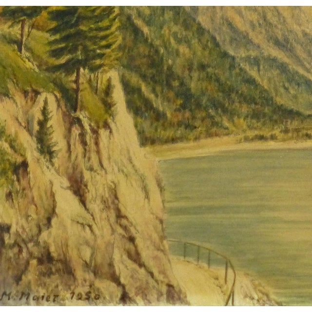 1950 Vintage Original Watercolor, Majesty's Point - Image 3 of 4