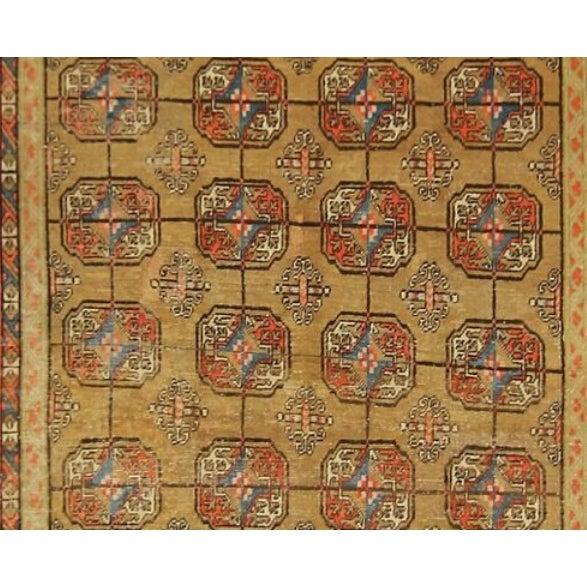 Boho Chic Vintage Turkistan Samarkand Rug - 5′ × 10′ For Sale - Image 3 of 5