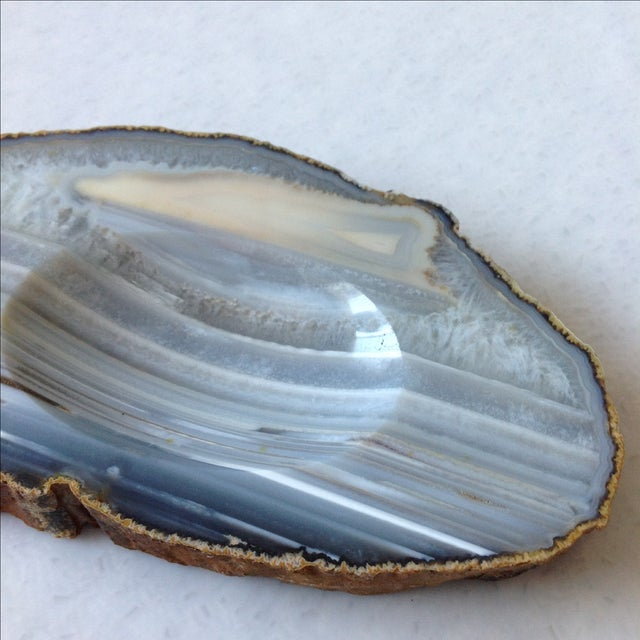 Striped Agate Quartz Dish - Image 7 of 11