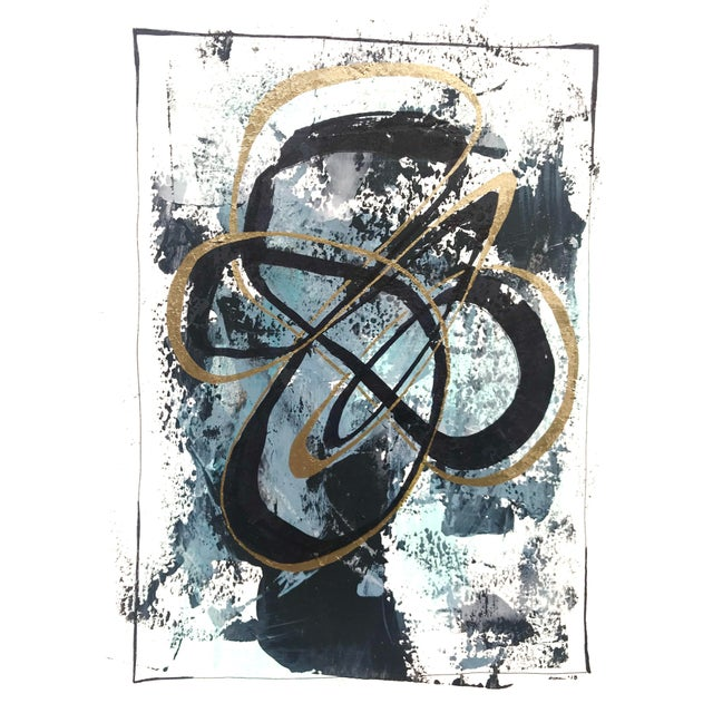 """Modern Original """"Orbits and Comets"""" Mixed Media by Christy Almond For Sale - Image 4 of 12"""