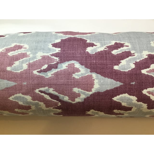 Purple & Gray Linen Ikat Pillow - Image 3 of 7