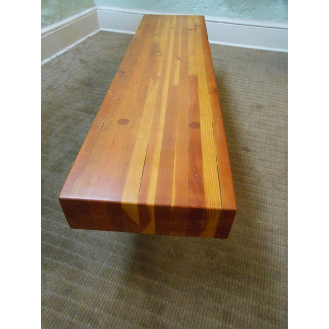 Midcentury Studio Butcher Block Coffee Table - Image 9 of 10