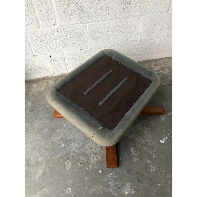 Vintage Mid Century Modern Scandinavian Lounge Chair & Ottoman For Sale - Image 11 of 13