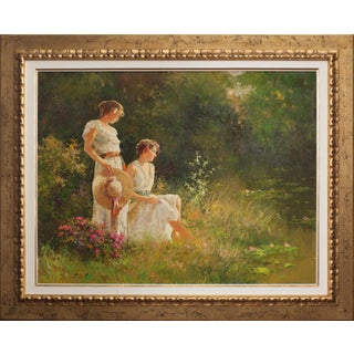"""Roman Frances """"Descansando"""" Painting For Sale"""