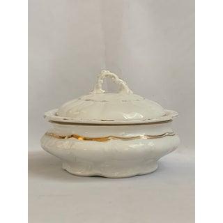 Antique Circular Ecuelle Butter Dish Sèvres Porcelain Gilt Louis XV Style Preview