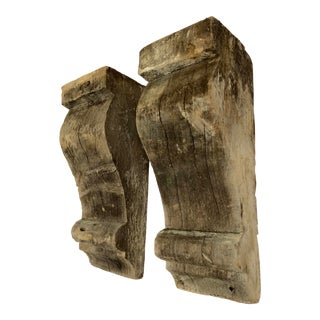 17th Century French Country Poplar Corbels - a Pair