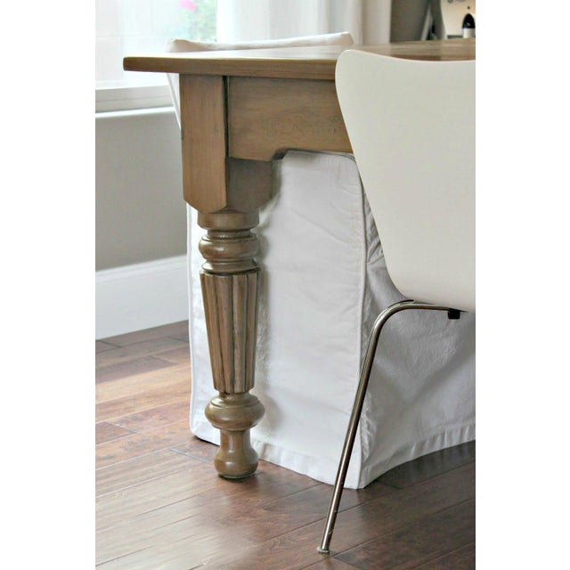 Rustic Farmhouse Dining Table - Image 3 of 10