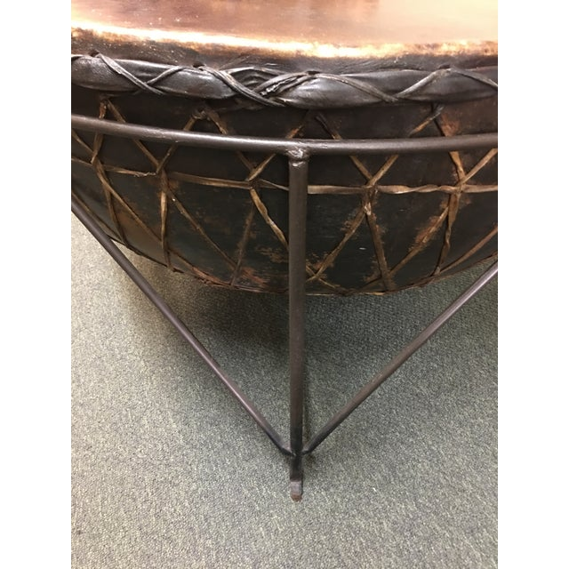 African Drum Cocktail Table For Sale In San Francisco - Image 6 of 8