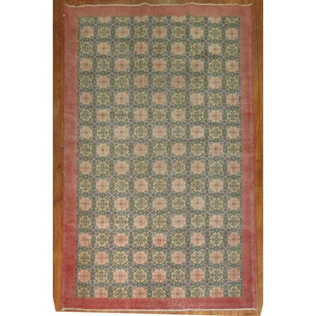 Vintage Turkish Konya Rug, 5'5'' X 9'1'' For Sale In New York - Image 6 of 6