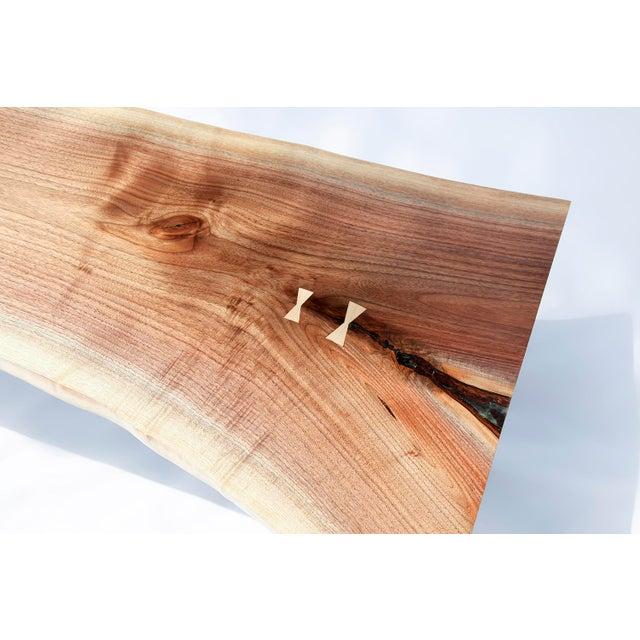 Mid-Century Modern Walnut Live Edge Slab Coffee Table - Image 4 of 6