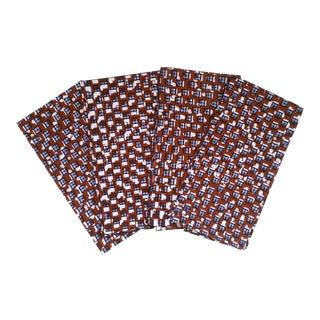 African Wax Print Fabric Napkins - Set of 6