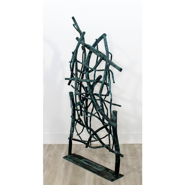 Contemporary Forged Painted Copper Metal Abstract Table Sculpture Robert Hansen For Sale In Detroit - Image 6 of 9