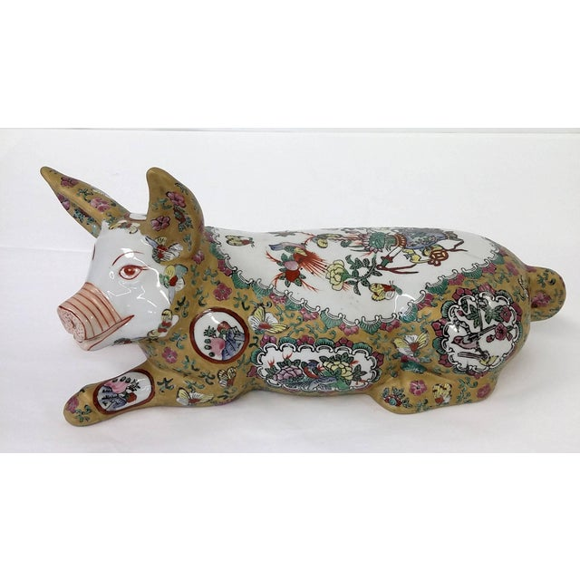Japanese Meiji Antique Porcelain Pig - Image 2 of 10