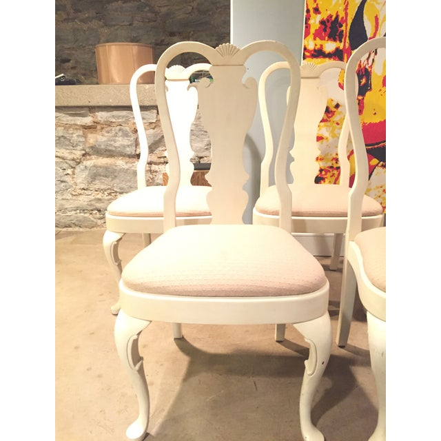 White Wood Dining Chairs - Set of 6 - Image 4 of 11