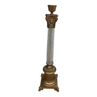 1920s Art Nouveau Gothic Candlestick Pillar For Sale