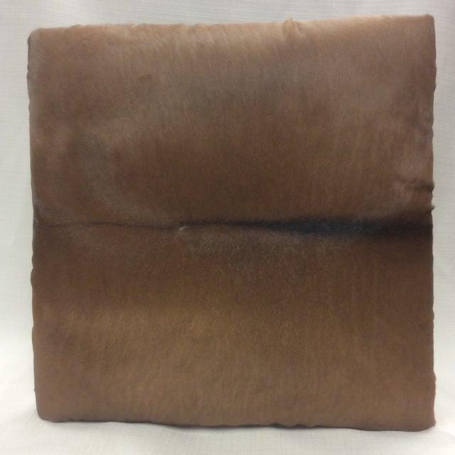 Cowhide Leather & Laurel Wood Footstool - Image 3 of 7