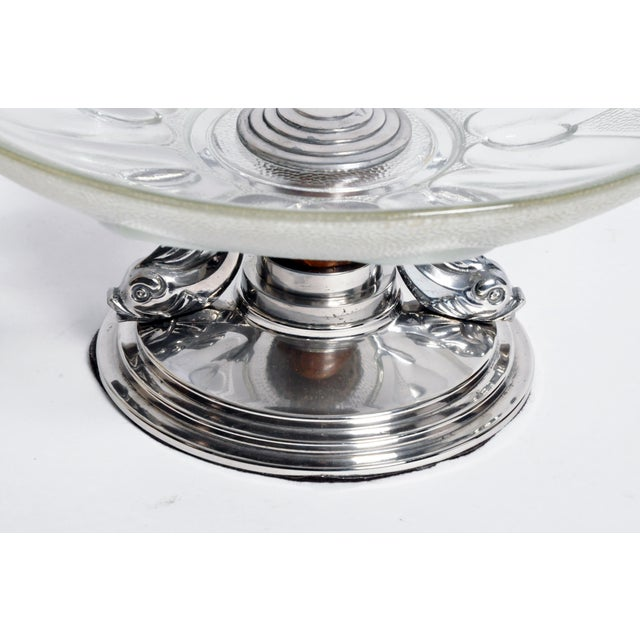 Silver Glass Candy Dish For Sale - Image 8 of 10
