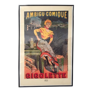 Le Theatre De l'Ambigu Gigolette Poster