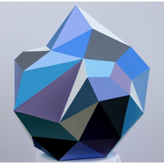 2010s 21st Century Blue Diamond Sculpture by Sassoon Kosian For Sale - Image 5 of 9