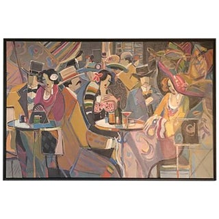 """Original Isaac Maimon Signed """"Sharing Great Times"""" For Sale"""