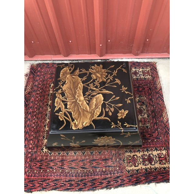 Chinoiserie Drexel Heritage Hand-Painted Side Table For Sale In Columbia, SC - Image 6 of 10