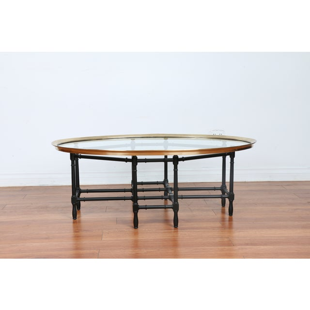 Bamboo Base Coffee Table - Image 3 of 10