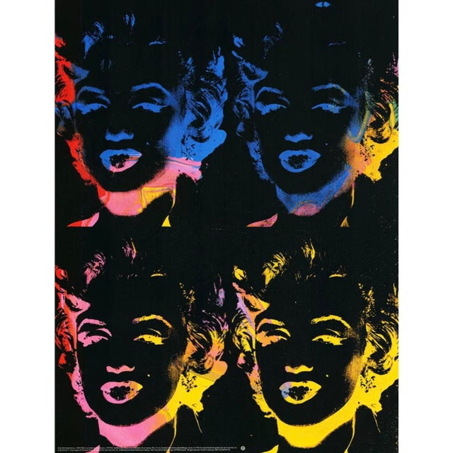 Paper 1993 Andy Warhol Foundation - Four Marilyns - Lithograph For Sale - Image 7 of 8
