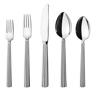 Georg Jensen Art Deco Cutlery Giftbox Designed by Sigvard Bernadotte - 5 Piece Set For Sale