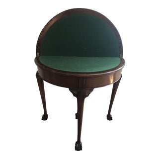 20th Century English Traditional Demi-Lune Table For Sale