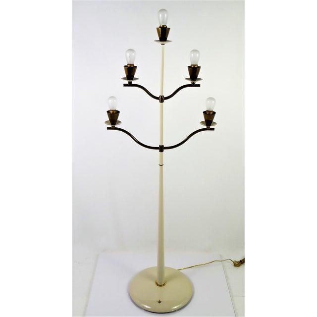 Modern Italian Five Light Floor Lamp 1940s For Sale - Image 4 of 13