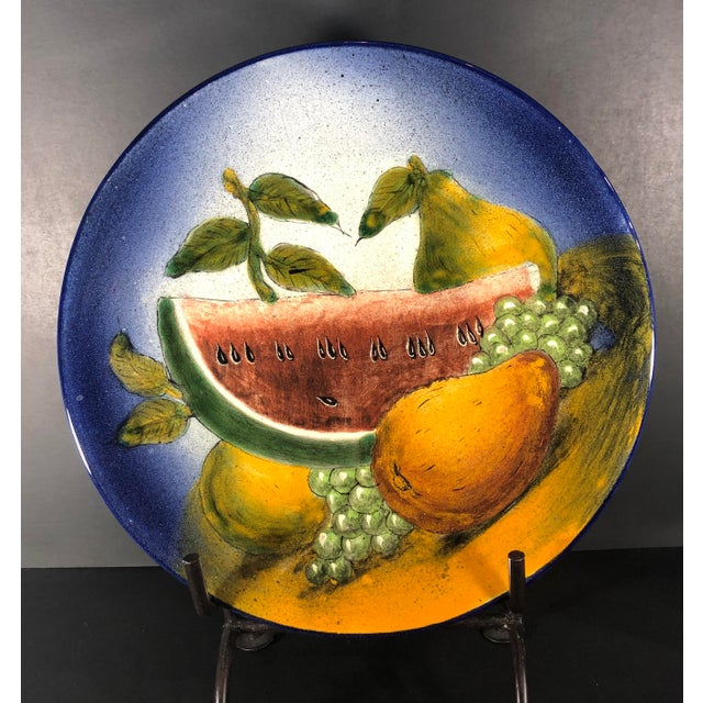 2000 - 2009 Traditional Southwestern Rustic Mexican Hand Painted Plate For Sale - Image 5 of 6