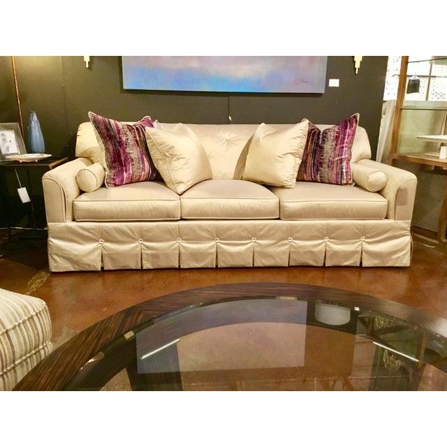 Hickory Chair Co Syrie Maugham Silk Sofa Chairish