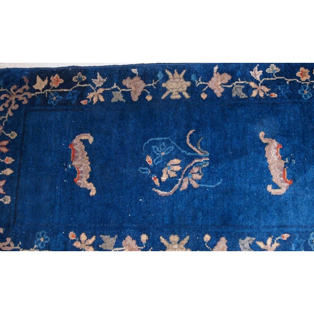 Handmade antique Art Deco Chinese rug. The rug is in original good condition, from the beginning of 20th century....