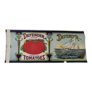 Coastal Clipper Chip Produce Label Kitchen Art Advertisement For Sale