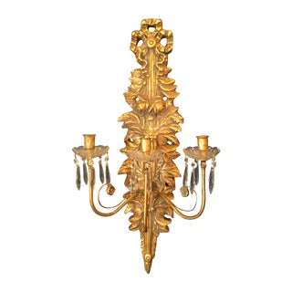 Glass Pendant Candelabra Sconce For Sale