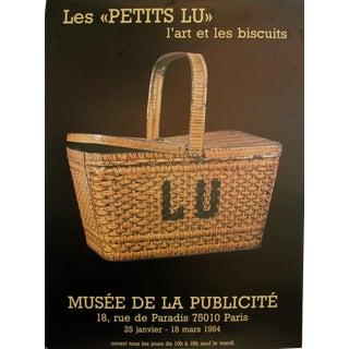 """1984 Original Vintage Poster, Les """"Petits Lu"""", L'art et les biscuits (Panier LU)"""