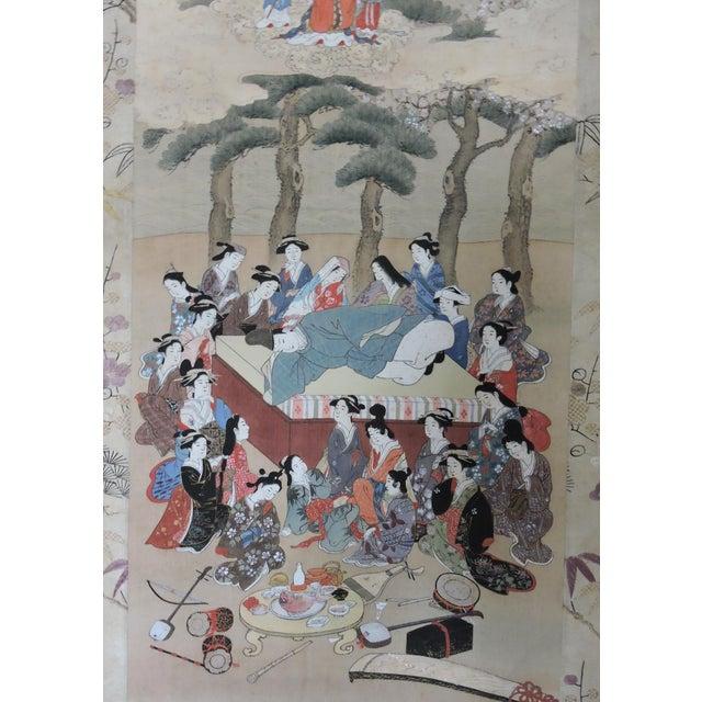 Asian Antique 19th C. Japanese Scroll Painting - Edo Period Kakejiku For Sale - Image 3 of 8
