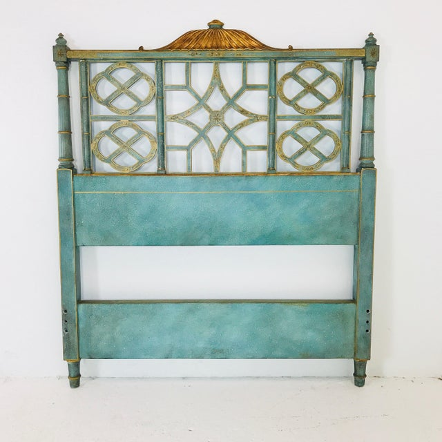 Mid 20th Century Pair of Twin Chinoiserie Pagoda Beds by Kittinger For Sale - Image 5 of 12