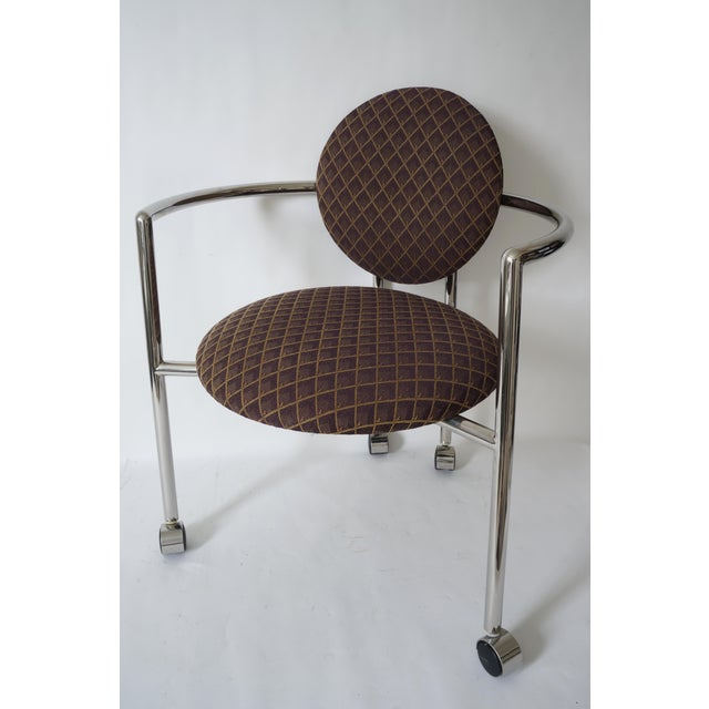 """Brown Vintage Stanley Jay Friedman for Brueton """"Moon Chair"""" - 4 Are Available For Sale - Image 8 of 9"""