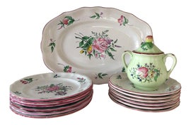 Image of Antique White Dinnerware