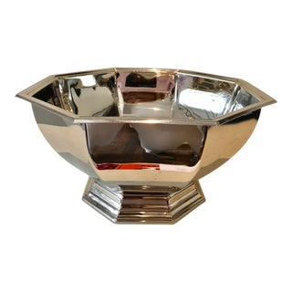 Silver-Plate Octagon Classic Bowl For Sale
