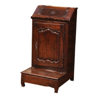 Early 19th Century French Louis XIV Carved Walnut Prie-Dieu Prayer Kneeler For Sale