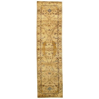 """Traditional Pasargad N Y Original Oushak Design Hand-Knotted Rug - 2'7"""" X 9'9"""""""