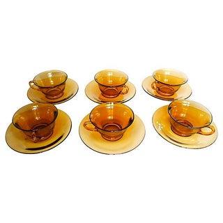 Amber Glasses - Set of 6 For Sale