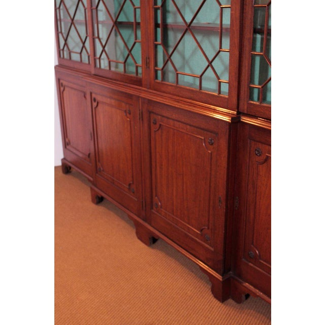 Green Late 18th Century George III Mahogany Breakfront For Sale - Image 8 of 13