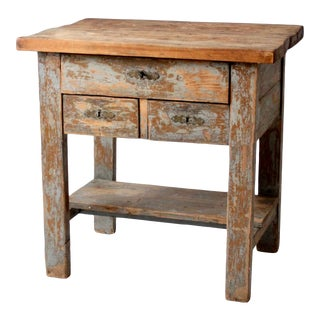 Antique Wooden Console Table For Sale