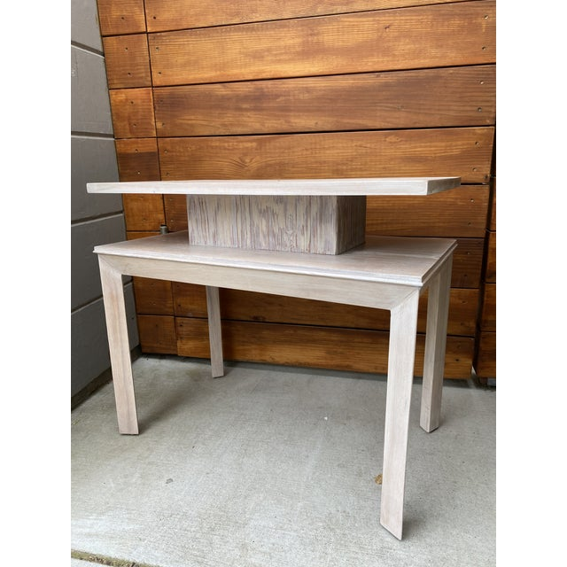 Mid-Century Modern Whitewashed Side Table by Paul Frankl For Sale - Image 3 of 13