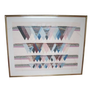 Framed Signed 'Mono Turbid Mist' Mixed Media Collage For Sale