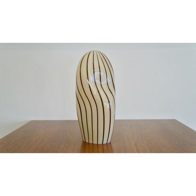 Striped Murano Italian Art Glass Lamp - Image 2 of 8