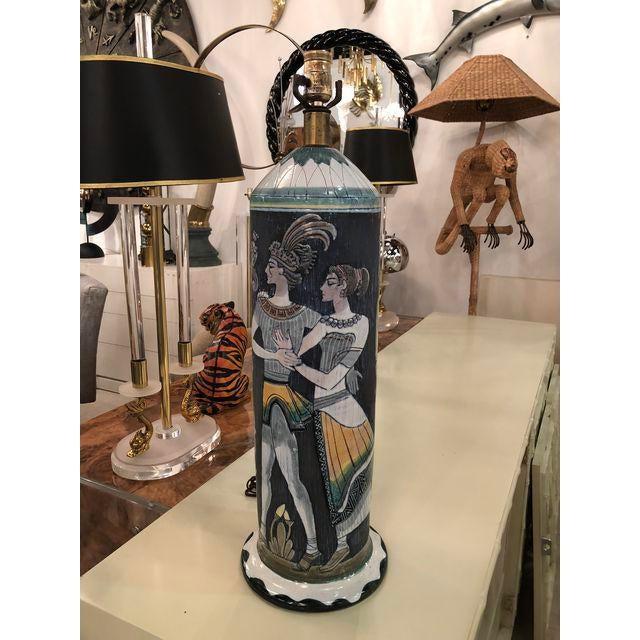 Marian Zawadsky for Tilgman Keramik Vintage Sweden Table Lamp For Sale In West Palm - Image 6 of 11